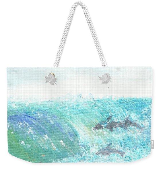 Wave Front Weekender Tote Bag