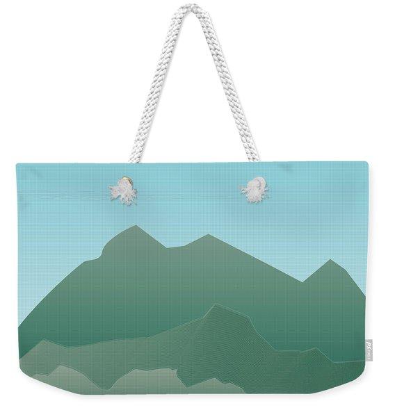 Wave Mountain Weekender Tote Bag