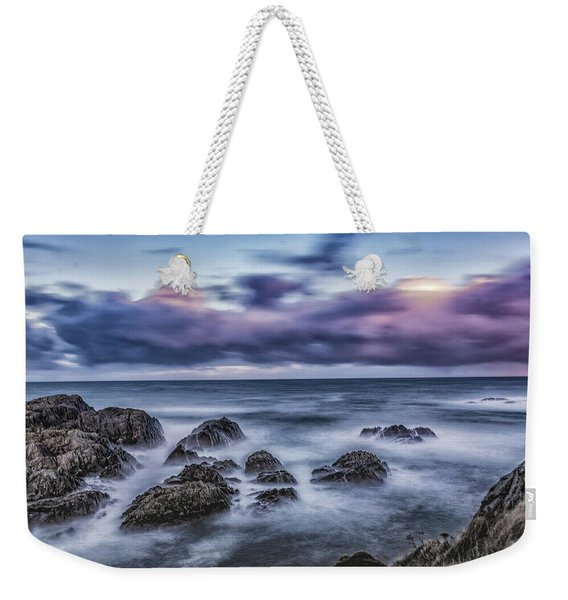 Waves At The Shore Weekender Tote Bag