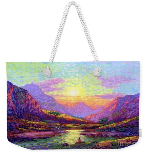 Waves Of Illumination Weekender Tote Bag
