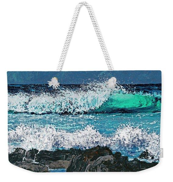 Waves On Napili Bay Weekender Tote Bag