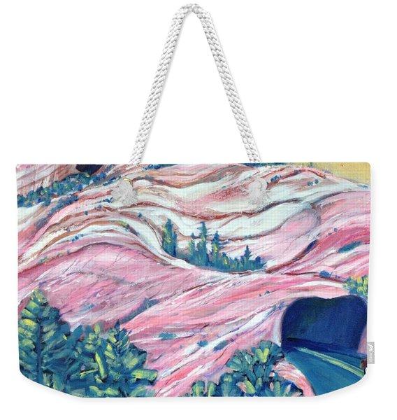 Wavy Rocks Weekender Tote Bag