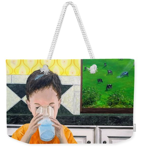 Weekender Tote Bag featuring the painting We Are Starstuff by Kevin Daly