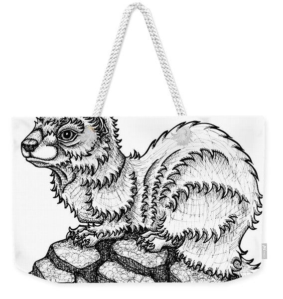 Weasel Weekender Tote Bag
