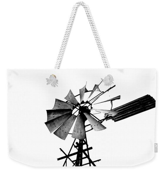 Weathered Windmill - B-w Weekender Tote Bag