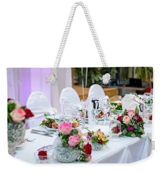 Wedding Table Weekender Tote Bag