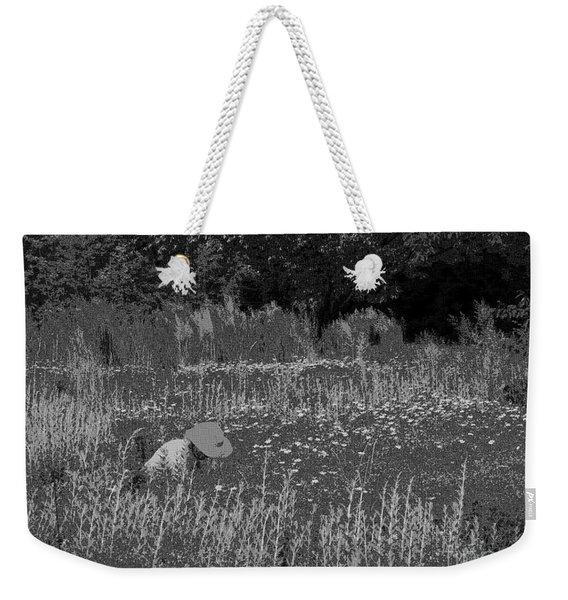 Weeding The Garden Weekender Tote Bag