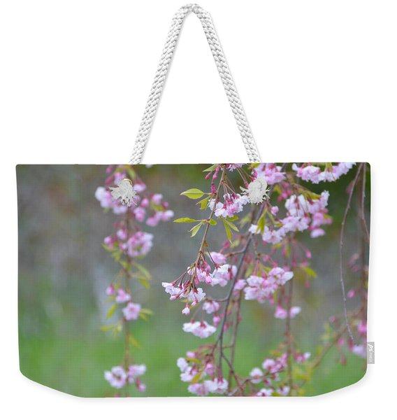 Weeping Cherry Blossoms Weekender Tote Bag