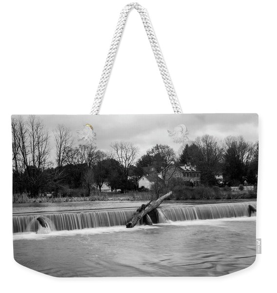 Wehr's Dam - Black And White Weekender Tote Bag
