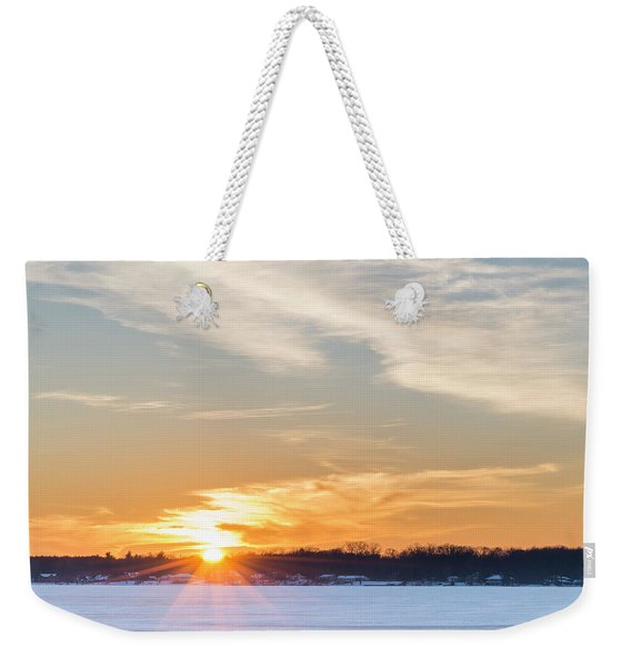 West Shore Sunset Weekender Tote Bag