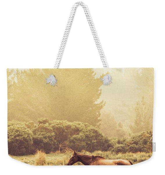 Western Ranch Horse Weekender Tote Bag