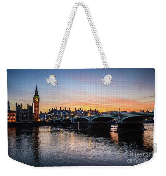 Westminster Sunset Weekender Tote Bag