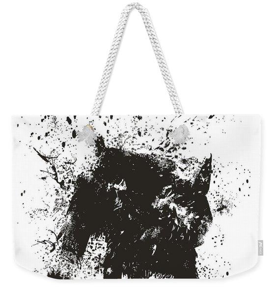 Wet Dog Weekender Tote Bag