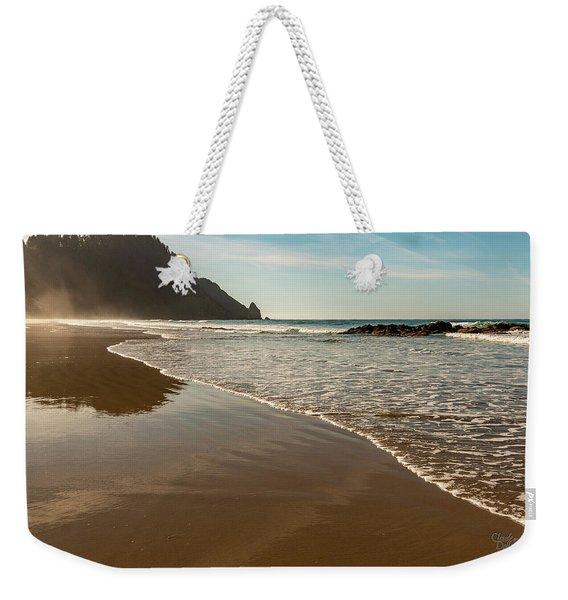 Wet Sandy Beach Weekender Tote Bag