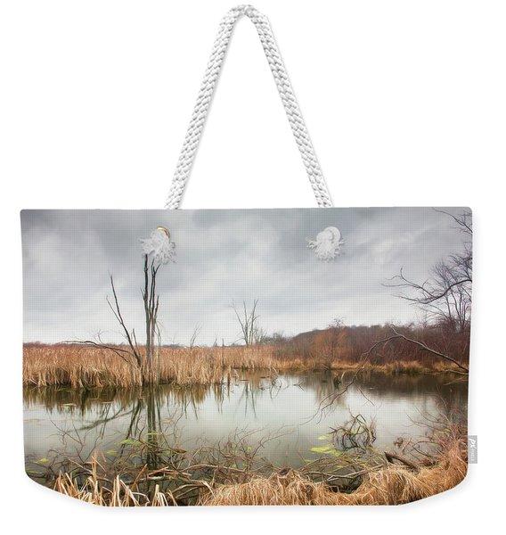 Wetlands On A Dreary Day Weekender Tote Bag