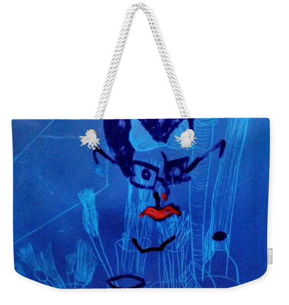 When His Face Is Blue For You Weekender Tote Bag