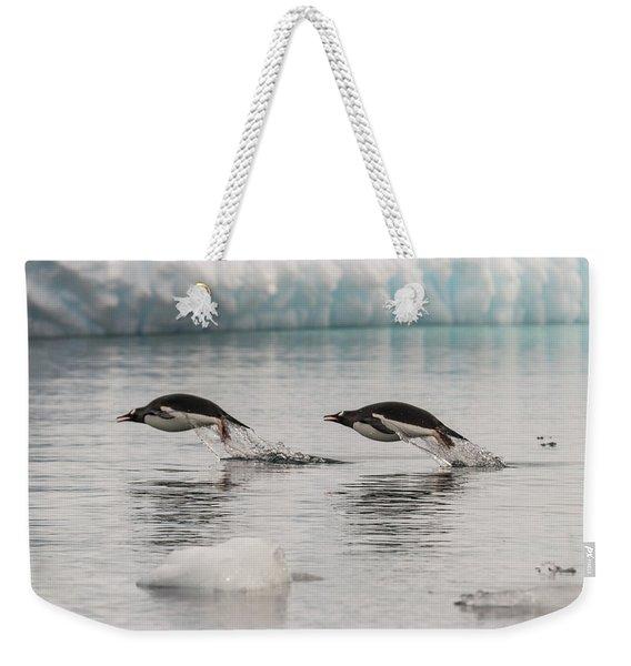 When Penguins Fly Weekender Tote Bag