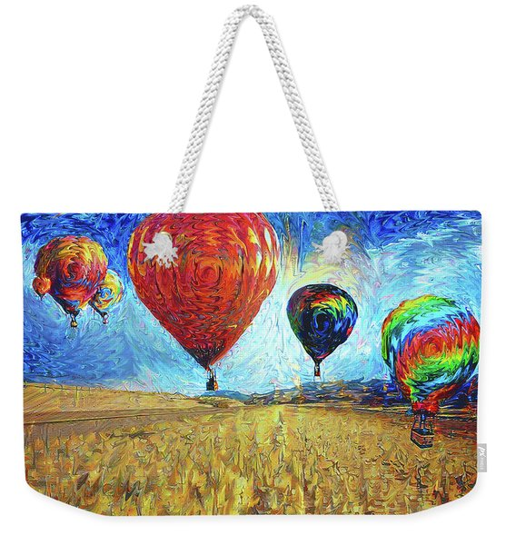 When The Sky Blooms Weekender Tote Bag
