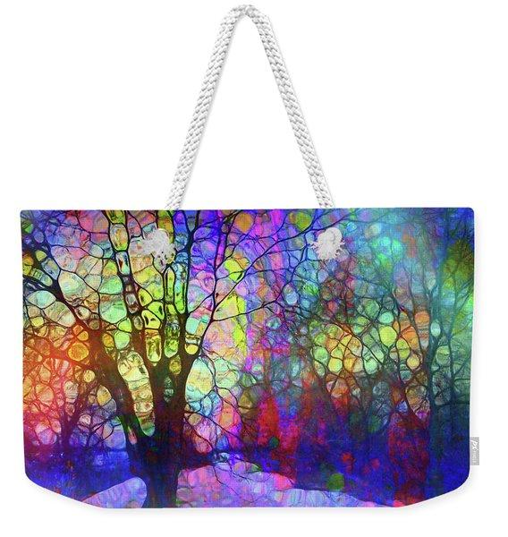 When The Trees Speak In Rainbows Weekender Tote Bag