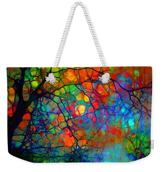 When Trees Paint The Night Sky Weekender Tote Bag