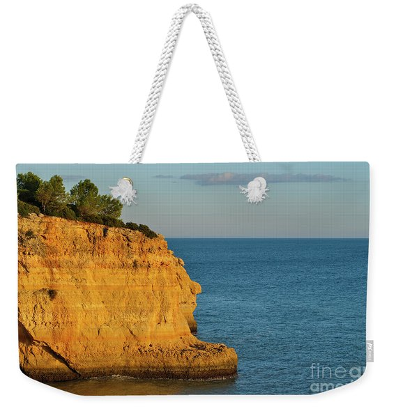 Where Land Ends In Carvoeiro Weekender Tote Bag