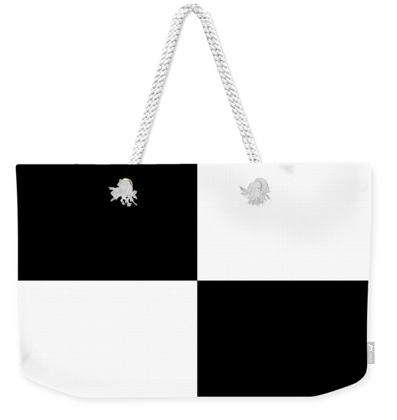 White And Black Squares - Ddh586 Weekender Tote Bag