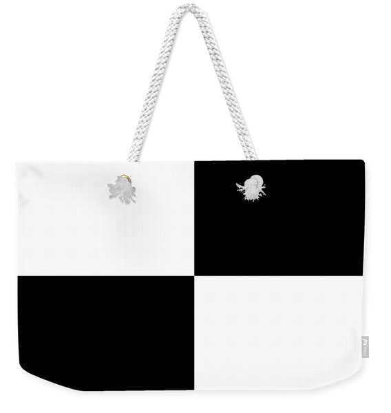 White And Black Squares - Ddh588 Weekender Tote Bag