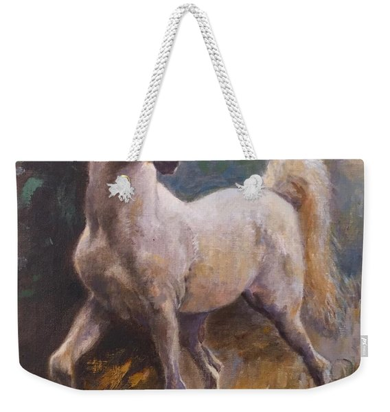 White Arabian Weekender Tote Bag