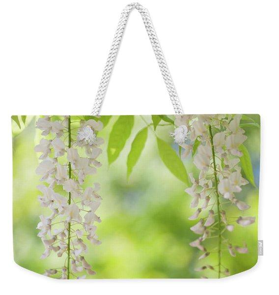 White Clusters Of Flowering Wisteria Weekender Tote Bag
