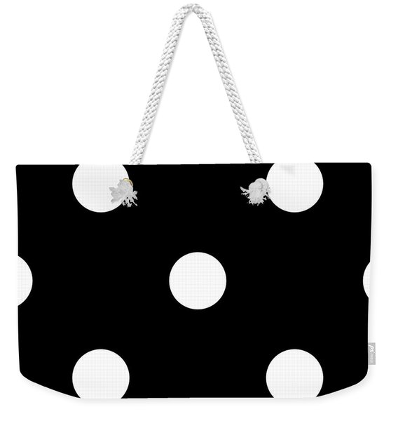 White Dots On A Black Background- Ddh612 Weekender Tote Bag