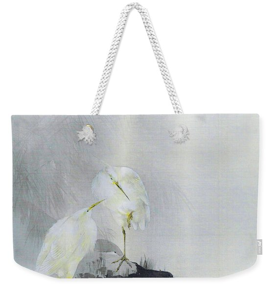 White Egret - Digital Remastered Edition Weekender Tote Bag