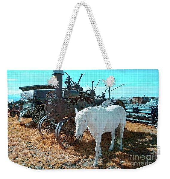 White Horse Iron Horse Weekender Tote Bag