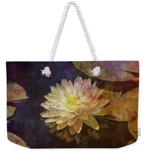 White Lotus Lily Pond 2938 Idp_2 Weekender Tote Bag