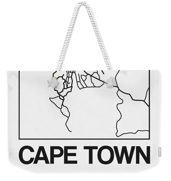 White Map Of Cape Town Weekender Tote Bag