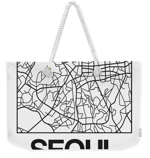 White Map Of Sao Paulo Weekender Tote Bag
