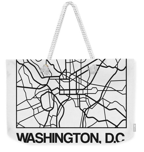 White Map Of Washington, D.c. Weekender Tote Bag