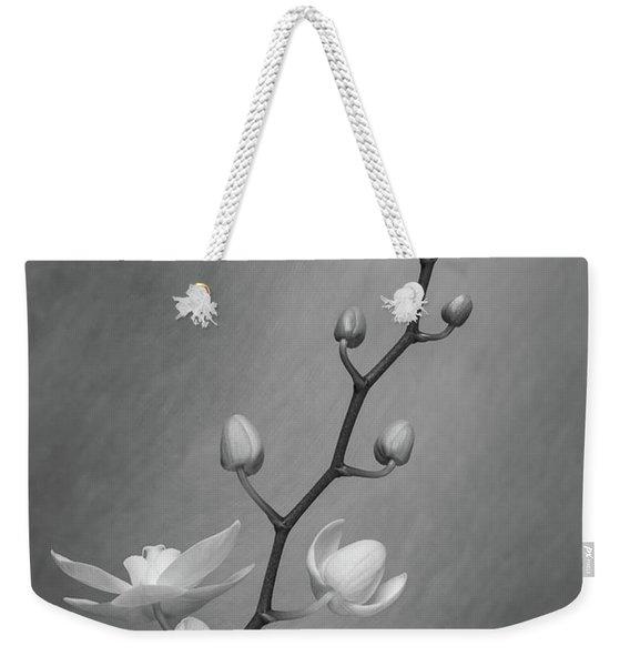 White Orchid Buds Weekender Tote Bag