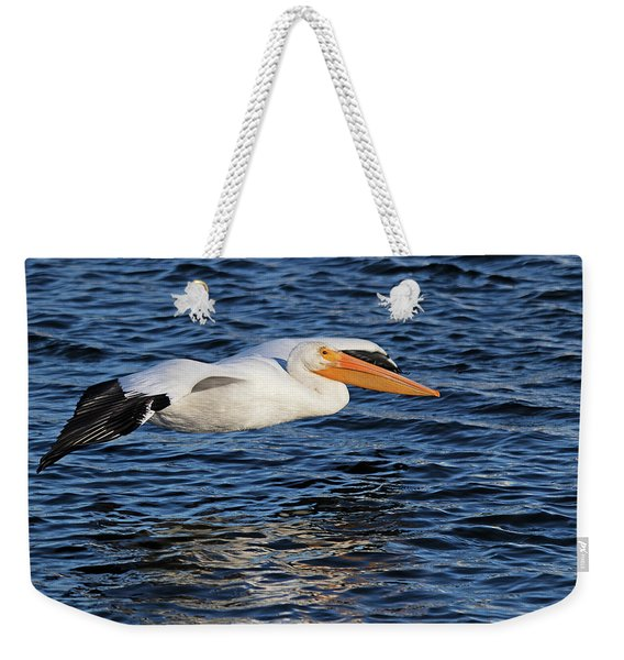 White Pelican Cruising Weekender Tote Bag