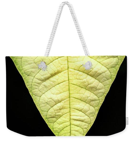White Poinsettia Leaf Weekender Tote Bag