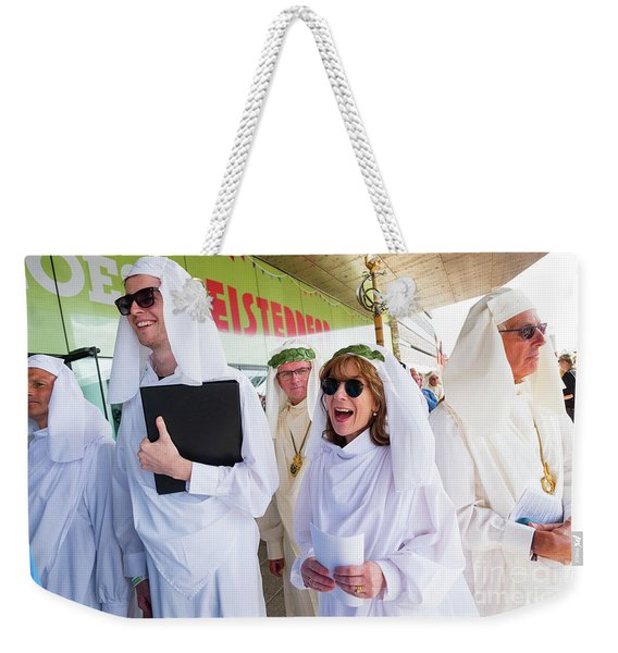 White Robed Bards At The Welsh National Eisteddfod Weekender Tote Bag