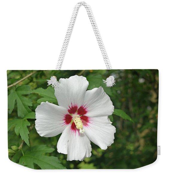 White Rose Of Sharon Weekender Tote Bag
