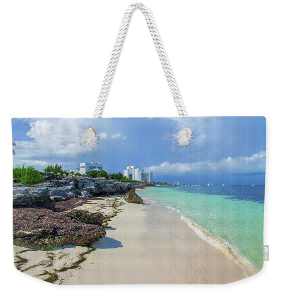 White Sandy Beach Of Cancun Weekender Tote Bag
