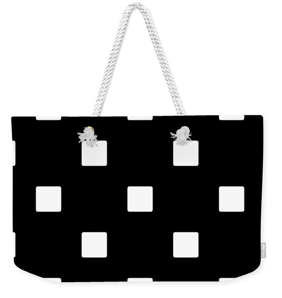 White Squares On A Black Background- Ddh576 Weekender Tote Bag