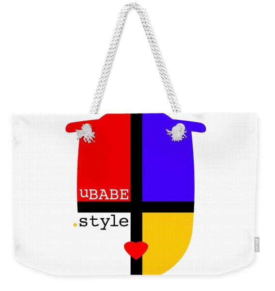 White Style Weekender Tote Bag