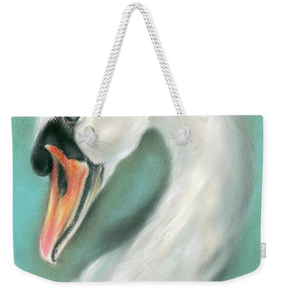 White Swan Portrait Weekender Tote Bag