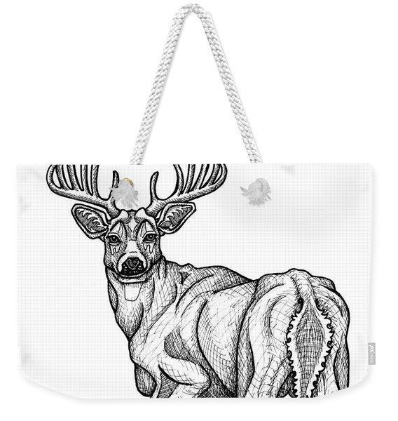 White Tailed Buck Weekender Tote Bag