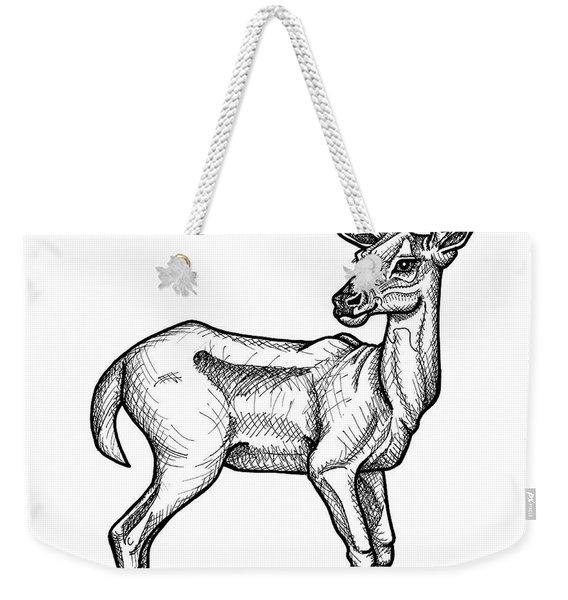 White Tailed Doe Weekender Tote Bag