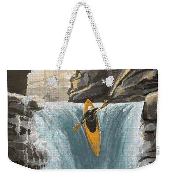 White Water Kayaking Weekender Tote Bag