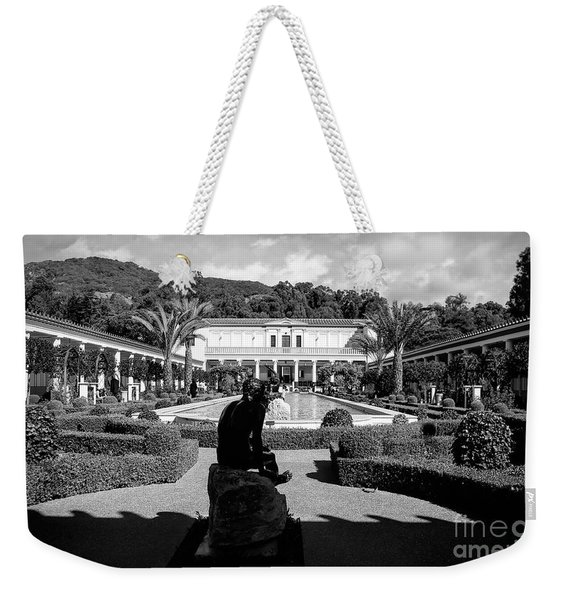 Wide Angle Getty Villa Black White  Weekender Tote Bag