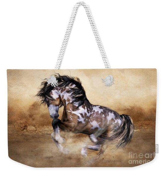 Wild And Free Horse Art Weekender Tote Bag